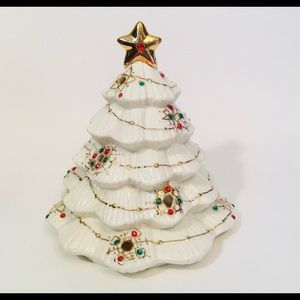Vintage Porcelain Christmas Tree Candle Holder